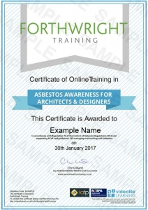 Asbestos-Awareness-For-Architects-&-Designers-Sample-Certificates-Forthwright-Training