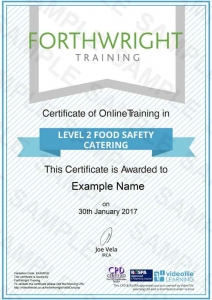 Level-2-Food-Safety-Catering-Sample-Certificates-Forthwright-Training