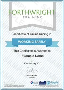 Working-Safely-Sample-Certificates-Forthwright-Training
