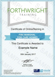 Fire-Marshall-For-Care-Homes-Sample-Certificates-Forthwright-Training