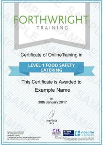 Level-1-Food-Safety-Catering-Sample-Certificates-Forthwright-Training
