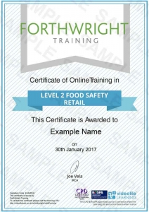 Level-2-Food-Safety-Retail-Sample-Certificates-Forthwright-Training